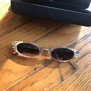 "Nude Tortoise Krewe ""Fern"" Cat Eye Sunnies"